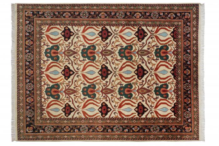 6-45 Kashan-1 Ivory-Black 8x10